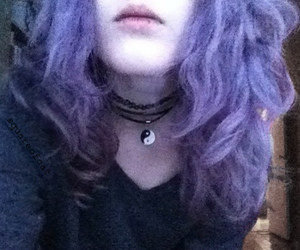 choker, color hair, and grunge image