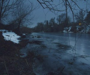 winter, nature, and river image