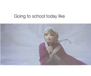 school, frozen, and funny image