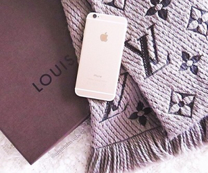Louis Vuitton, scarf, and iphone image