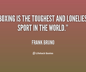 boxing, loneliness, and sports image