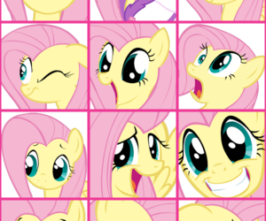 my little pony, fluttershy, and magic fluttershy image