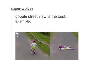 bicycle, funny, and google street view image