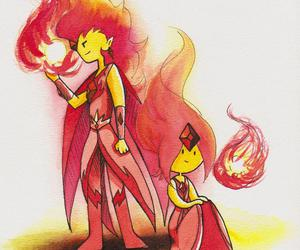 fire, flame, and adventure time image