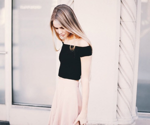 black, pink, and skirt image