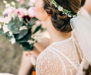 beauty, white, and bride image