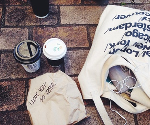 coffee, bag, and american apparel image