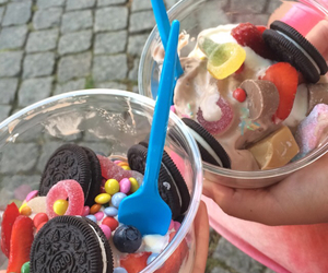 candy, icecream, and oreo image