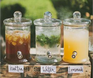 drink, lemonade, and water image