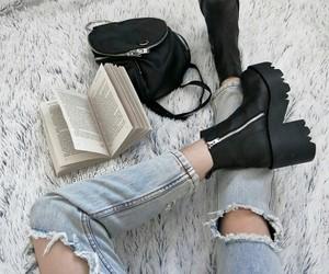 fashion, book, and black image