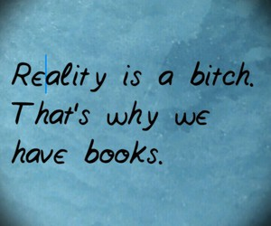 books, quotes, and reality image