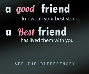 Best, difference, and friend image