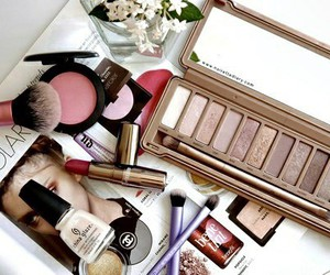 girly, make up, and love it image