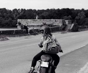 motorcicle and wild image