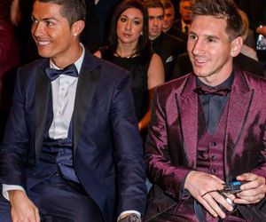 messi, Ronaldo, and football image