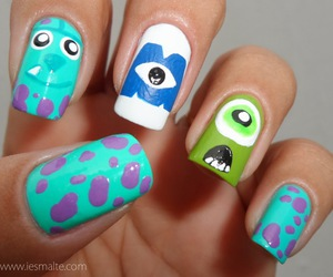 cartoons, drawing, and monsters inc image