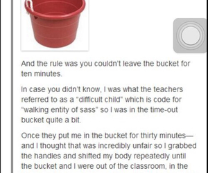 bucket, funny, and kids image