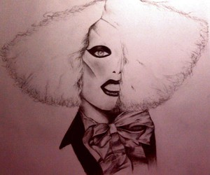 black and white, Lady gaga, and marry the night image