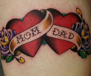 dad, mom, and heart image
