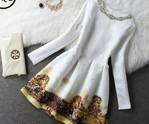 clothes, dress, and purse image