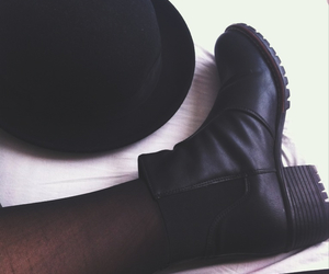 black, black beauty, and black boots image