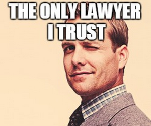charming, suits, and harvey specter image