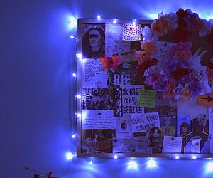 art, blue, and lights image