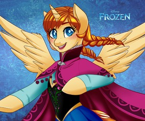 anna, frozen, and my little pony image