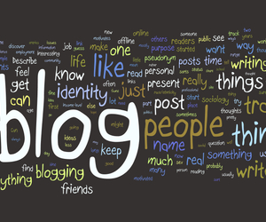 blog and text image