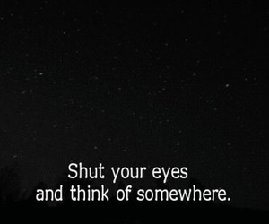 quotes, eyes, and stars image