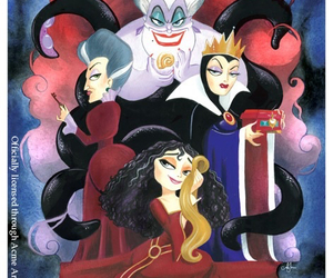 disney, ursula, and cinderella image