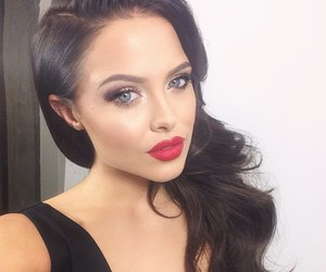 beauty, girl, and red lips image