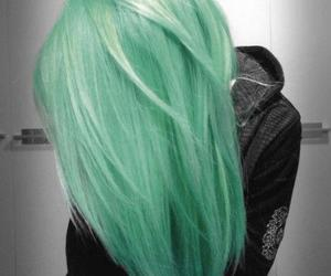 girl, green hair, and pastel image