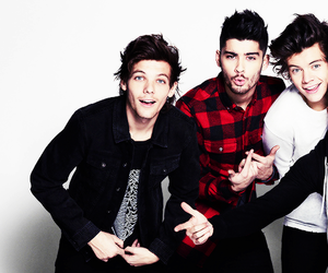 zayn malik, louis tomlinson, and Harry Styles image