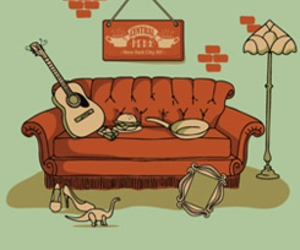 series, sofa, and friends image