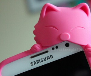 cute, pink, and samsung image