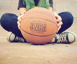Basketball, girl, and NBA image