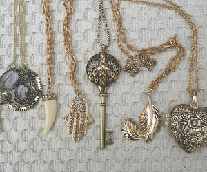 necklace, key, and heart image