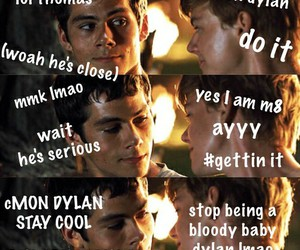 thomas sangster, newtmas, and newt image