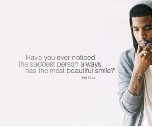 kid cudi, smile, and quote image