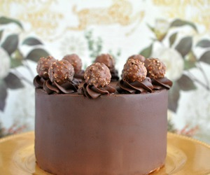 cake, chocolate, and ferrero rocher image