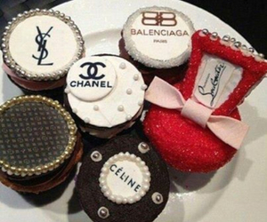 celine, chanel, and cup cakes image