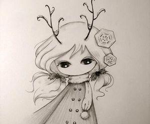 christmas, drawing, and juri ueda image