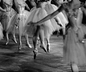 ballet, black and white, and dance image