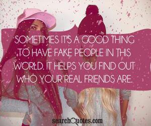 friends, fake, and fake people image