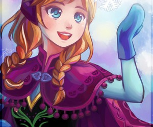 frozen, anime, and anna image