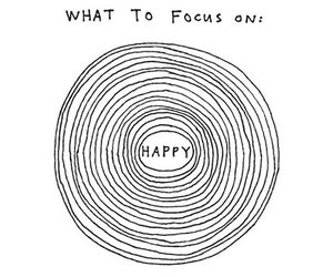 happy, quotes, and focus image