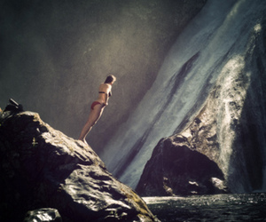 falls, photography, and swimming image