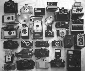 black and white, cameras, and in love image
