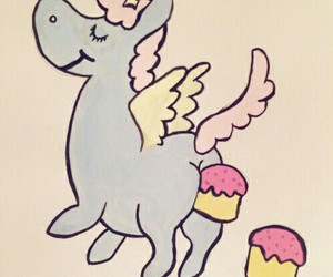 unicorn and cupcake image